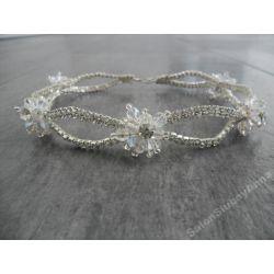 Naszyjnik ślubny wieczorowy kolia kryształki M209