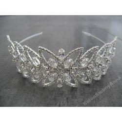 Diadem ślubny opaska wieczorowa kryształ górsk SD3