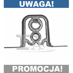 WIESZAK UCHWYT TŁUMIKA AUDI 80 '91-96 FISCHER!