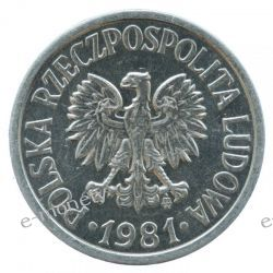 20 groszy 1981 rok mennicze 1919 - 1939 złote