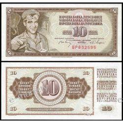 Jugosławia 10 DINARÓW1968
