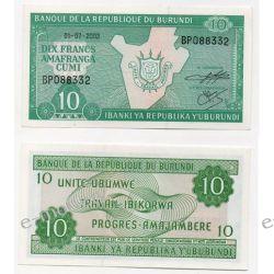 Burundi 10 FRANCS 2005