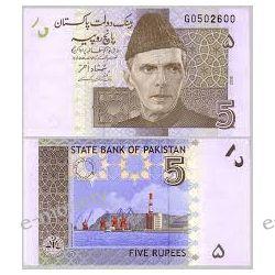 Pakistan 5 RUPEES 2009 1919 - 1939 złote