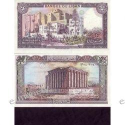 Liban 50 LIVRES 1988 1919 - 1939 złote