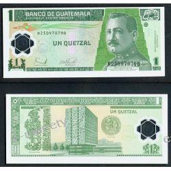 Gwatemala 1 QUETZAL 2006 polimer 1919 - 1939 złote