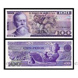 Meksyk 100 PESOS 1982 1916 - 1924 marki i ruble
