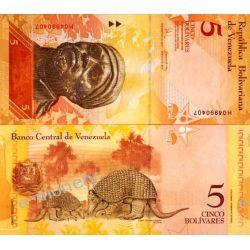Wenezuela 5 BOLIVARES 2008 Kopie i falsyfikaty