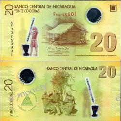 Nikaragua 20 CORDOBAS 2007 polimer