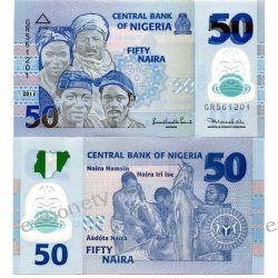 Nigeria 50 NAIRA 2011 polimer