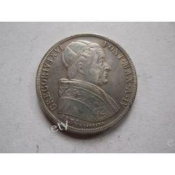 Włochy - 50 Baiocchi 1834 - GREGORY XVI