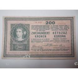 Austria 200 KRONEN Pieniądz papierowy