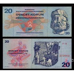 Czechosłowacja 20 KORON 1970 Pieniądz papierowy