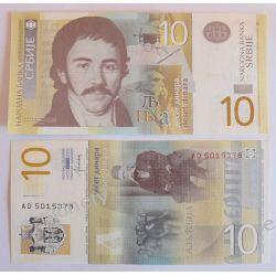 Serbia 10 DINARÓW 2013 Pieniądz papierowy