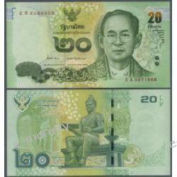Tajlandia 20 BATH 2013 Pieniądz papierowy