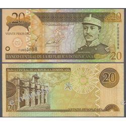 Dominikana 20 PESOS ORO 2002 Pieniądz papierowy