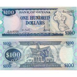Gujana 100 DOLLARS Pieniądz papierowy
