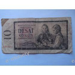 Czechosłowacja 10 KORON 1960 Pieniądz papierowy