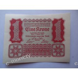Austria 1 KORONA 1922 - UNC Pieniądz papierowy