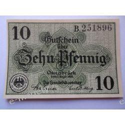 Niemcy 10 Pfennig 1921 - Osnabruck - UNC Pieniądz papierowy