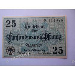 Niemcy 20 Pfennig 1921 - Osnabruck - UNC Pieniądz papierowy