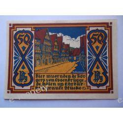 Niemcy 50 Pfennig 1921 - Osnabruck - UNC Pieniądz papierowy
