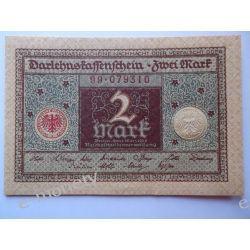 Niemcy 2 MARKI 1920 - brąz - UNC Pieniądz papierowy