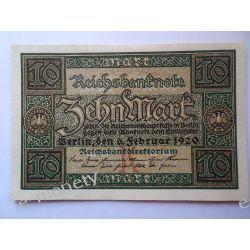 Niemcy 10 MAREK 1920 - UNC Pieniądz papierowy