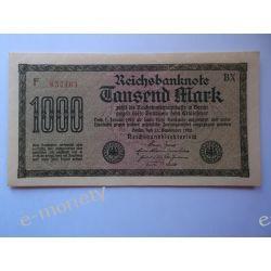 Niemcy 1000 MAREK 1922 - UNC Pieniądz papierowy