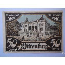 Niemcy 50 Pfennig 1922 - Wittenburg - st. bdb. Pieniądz papierowy