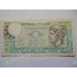 Włochy 500 LIRÓW 1976 Europa