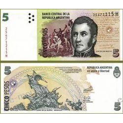 Argentyna 5 PESOS 2013 do 1923