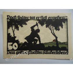 Niemcy 50 Pfennig 1922 - st. bdb. Pieniądz papierowy