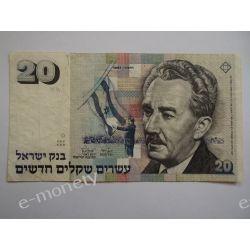 Izrael 20 NOWYCH SZEKLI 1987 Pieniądz papierowy