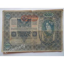 Austria 1000 KORON 1902 Pieniądz papierowy