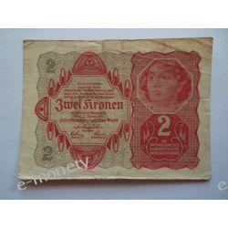 Austria 2 KORONY 1922 Pieniądz papierowy