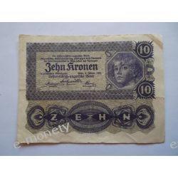 Austria 10 KORON 1922 Pieniądz papierowy