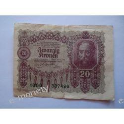 Austria 20 KORON 1922 Pieniądz papierowy