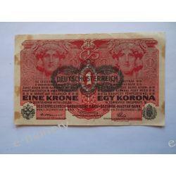 Austria 1 KORONA 1922 Pieniądz papierowy