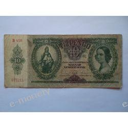 Węgry 10 PENGO 1936 Pieniądz papierowy