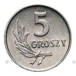 5 groszy 1962 mennicza Monety groszowe