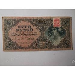 Węgry 1000 PENGO 1945 Pieniądz papierowy