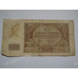 Polska 10 ZŁOTYCH 1940 s.III Pieniądz papierowy