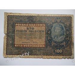 Polska 100 MAREK POLSKICH 1919 st. IV Pieniądz papierowy