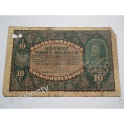 Polska 10 MAREK POLSKICH 1919 st. IV Pieniądz papierowy