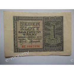 Polska 1 ZŁOTY 1941 s.II/III Pieniądz papierowy
