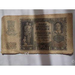Polska 20 ZŁOTYCH 1940 s.IV Pieniądz papierowy
