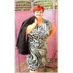 Letnia sukienka dla puszystej 54 56 4XL XXXXL duża