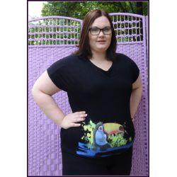 t-shirt bluzka 48 50 dla puszystej 2XL 3XL XXL
