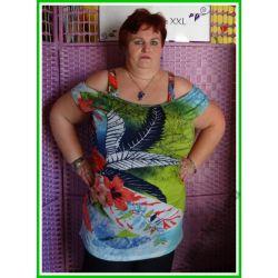 modna tunika sukienka XXXL 3XL dla puszystej 50 52