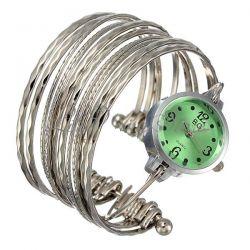 Oryginalny zegarek damski bransoleta zielony